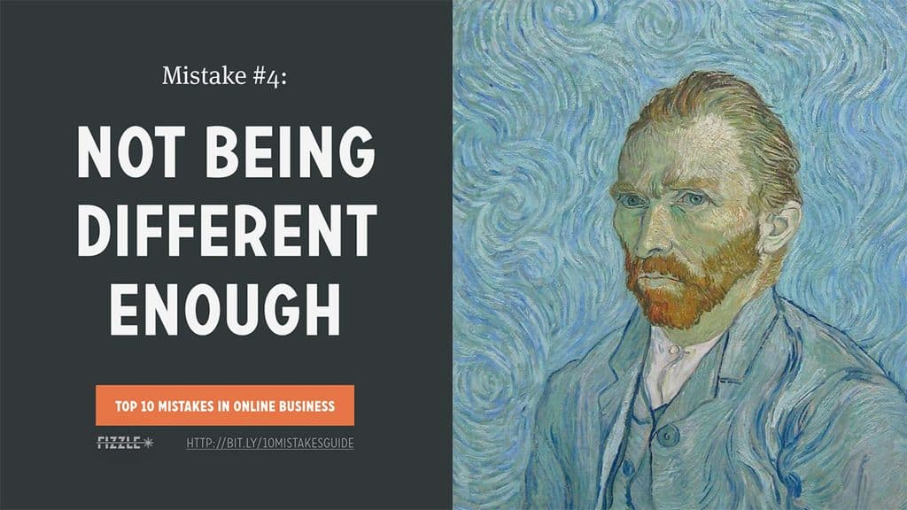 Online Business Mistake #4: Not being different enough
