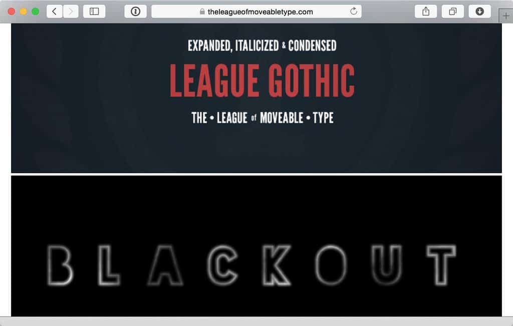 League of Moveable Type