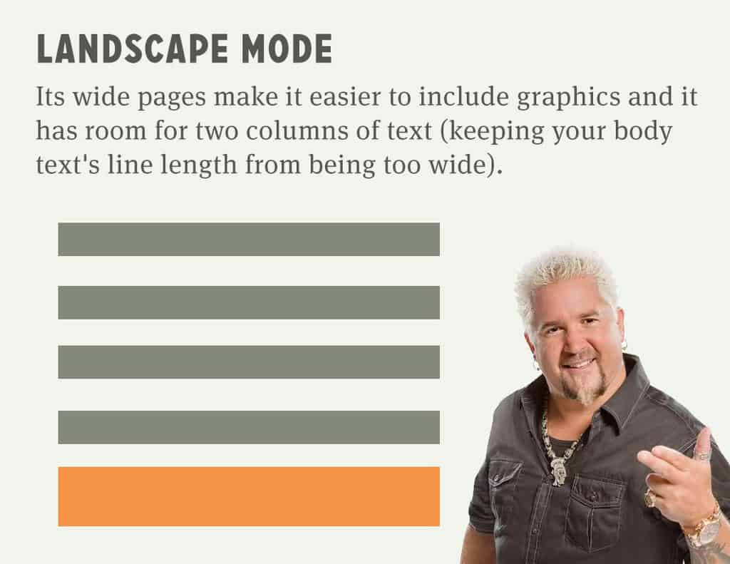 Landscape Mode: a little better for a graphical experience (and a computer reading experience)