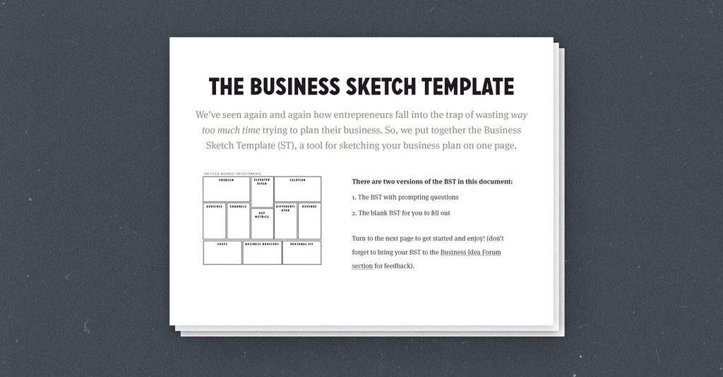 To Create A Simple Effective OnePage Business Plan Use This - Business plan framework template