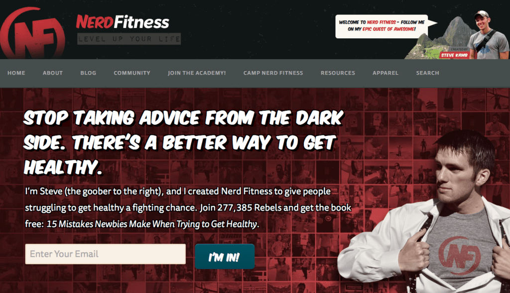 Feature Box (Nerd Fitness)