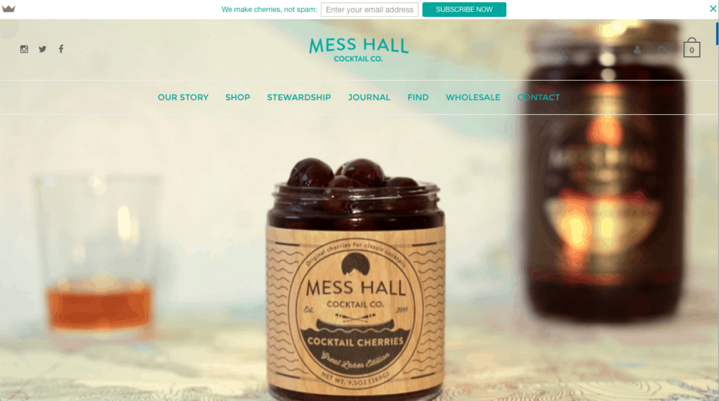 Hello Bar Example (Mess Hall Cocktail)