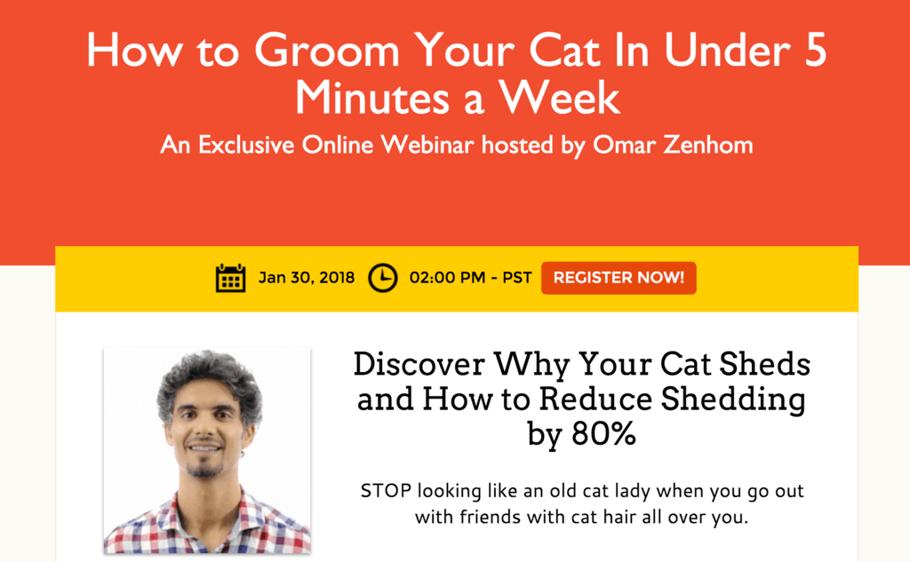 Groom Your Cat Reg Page