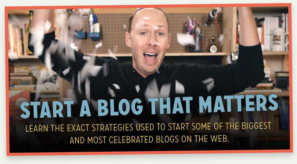 Start A Blog That Matters Course is BRAND NEW!